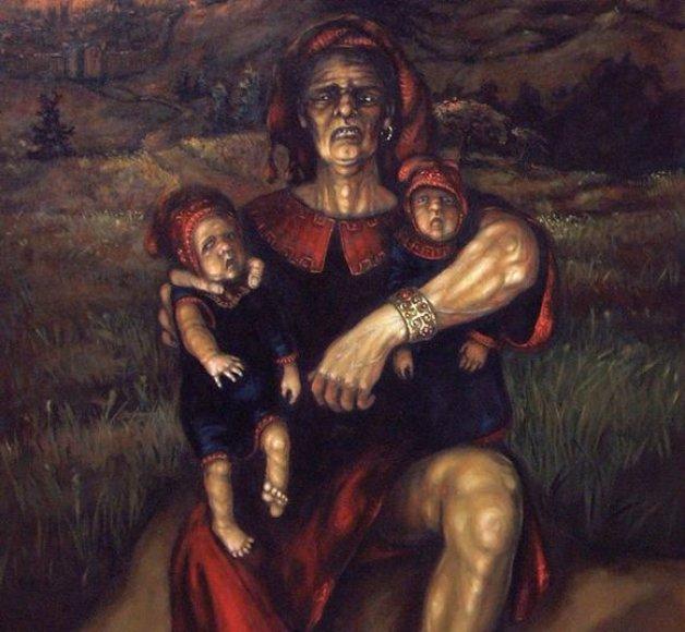 """P.Pajos paveikslas """"Pamišusio karaliaus sūnus"""""""