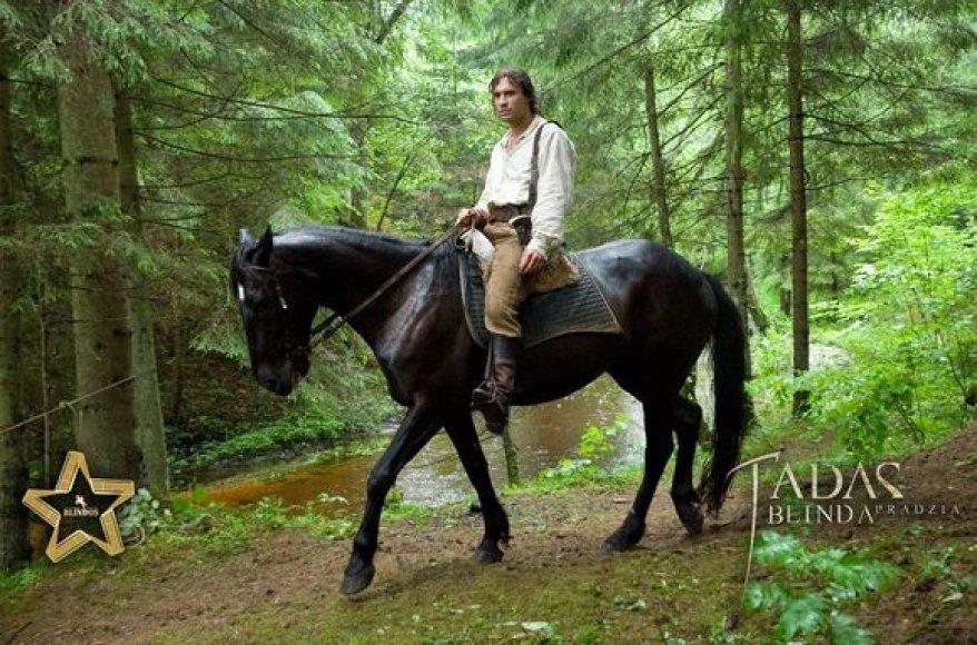 Mantas Jankavičius ant arklio