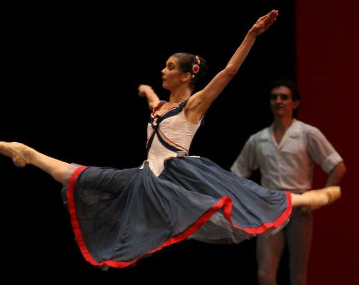 Baleto artistai žavėjo šokiu