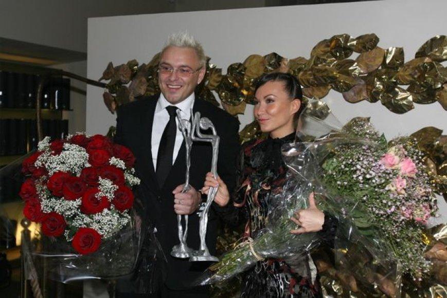 K.Krysko ir E.Bžeskas su apdovanojimais
