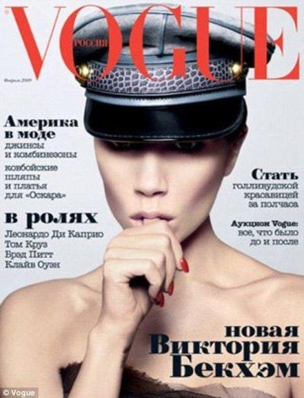 Victoria Beckham ant žurnalo viršelio