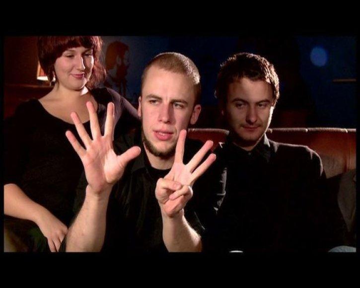 Suicide DJs is kairės - Ž.Kazlauskaitė, V.Bareikis ir A.Storpirštis