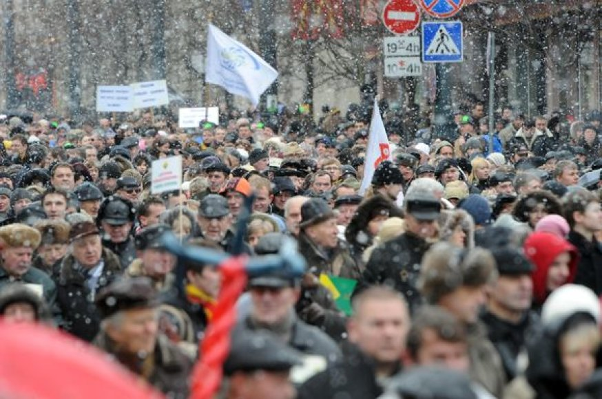 Vilnius, užtvindytas protestuotojų