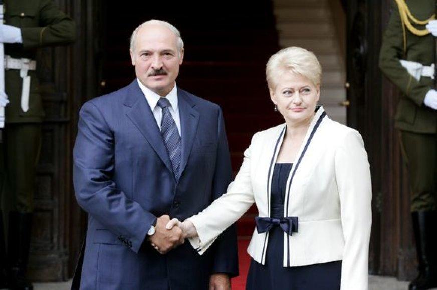 Dalia Grybauskaitė ir Aliaksandras Lukašenka