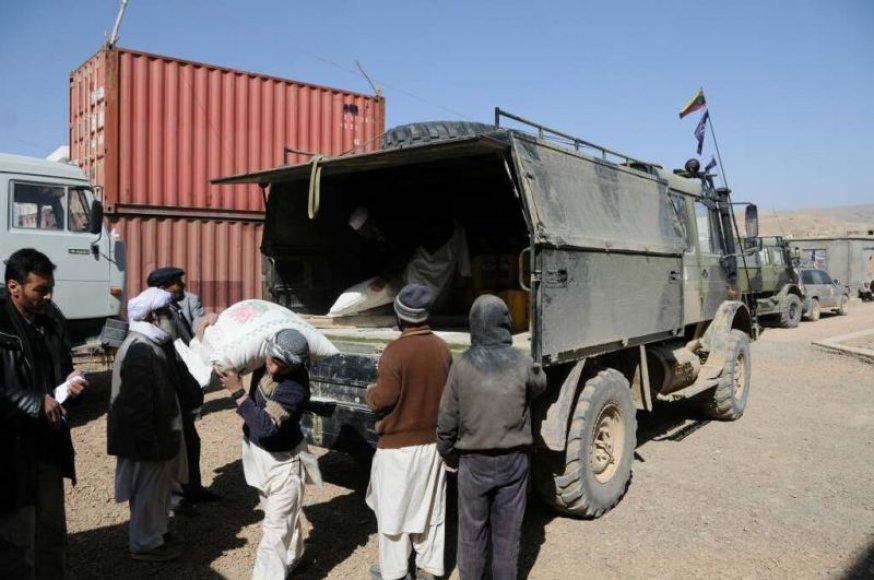 PAG kariai vargingoms Goro provincijos šeimoms perdavė 3,5 tonos maisto.