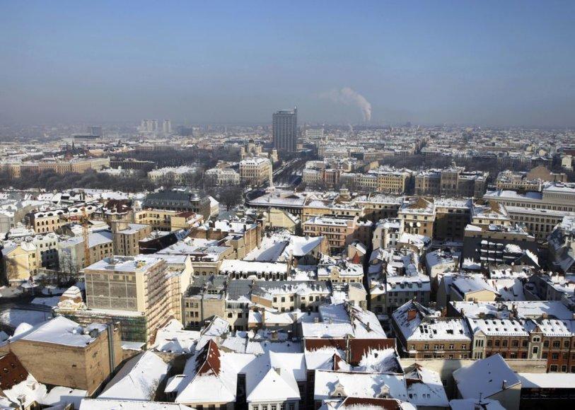 Sniegas Rygoje.