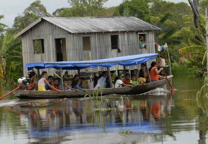Brazilija kenčia nuo potvynių.