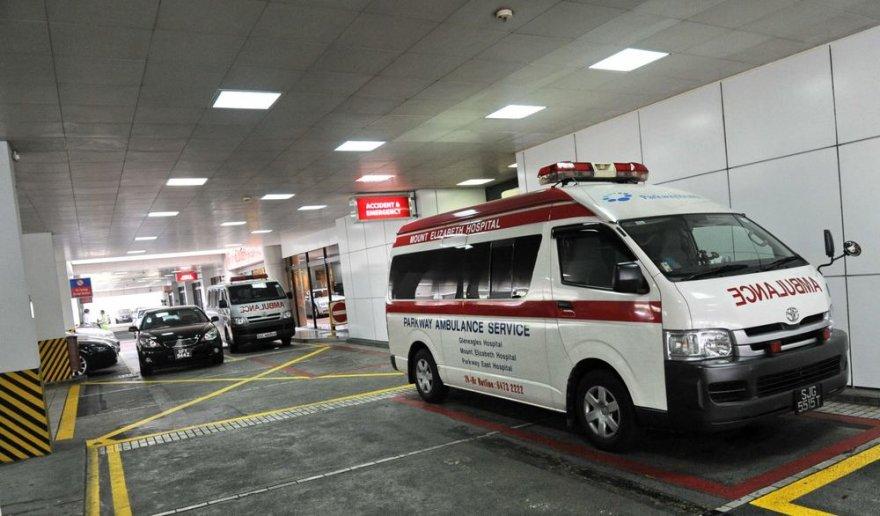 Greitosios pagalbos automobilis Singapūro ligoninėje