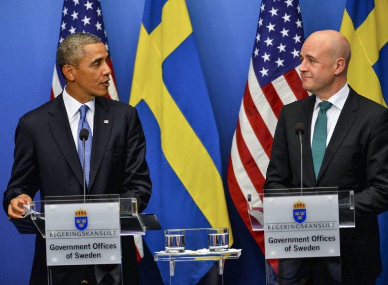 Barackas Obama ir Švedijos ministras pirmininkas Fredrikas Reinfeldtas