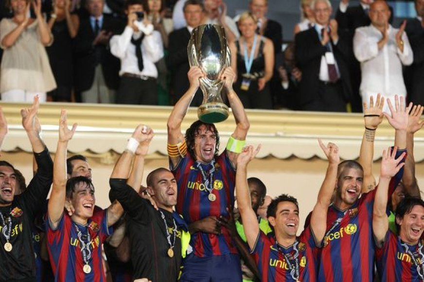 "UEFA supertaurę iškovojo Ispanijos futbolo čempionė ""Barcelona""."