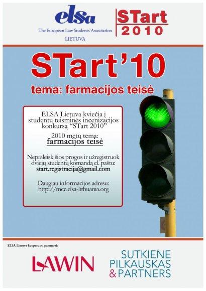 """ELSA Lietuva kviečia į studentų teisminės inscenizacijos konkursą """"STart 2010""""!"""