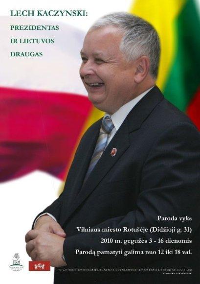 Vilniaus rotušėje atidaroma nuotraukų paroda apie Lechą Kaczynskį.