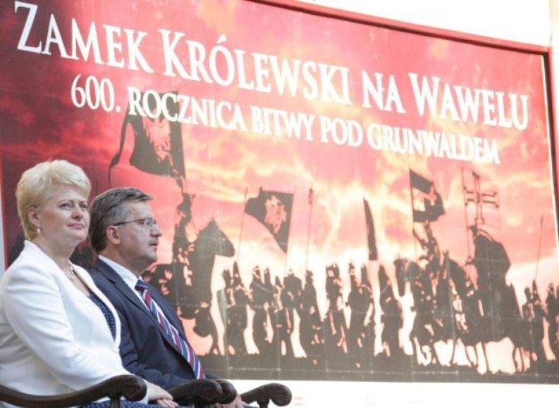 Prezidentė D.Grybauskaitė ir Lenkijos vadovas B.Komorowskis