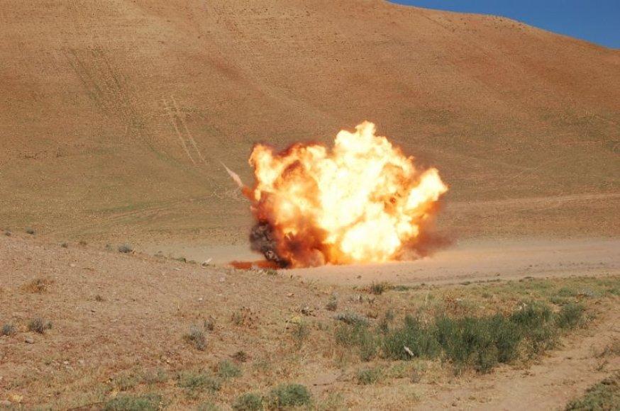 Lietuvos išminuotojai Afganistane neutralizavo savadarbį sprogstamąjį užtaisą.