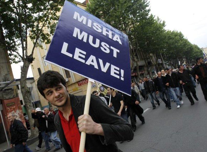 Gruzijoje – protestas prieš Michailą Saakašvilį.