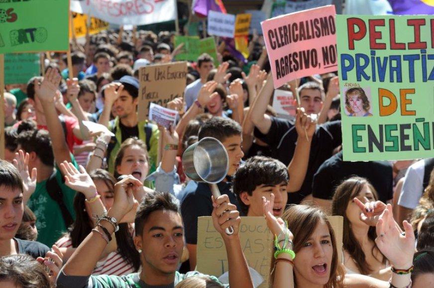 Studentų ir moksleivių streikas Ispanijoje