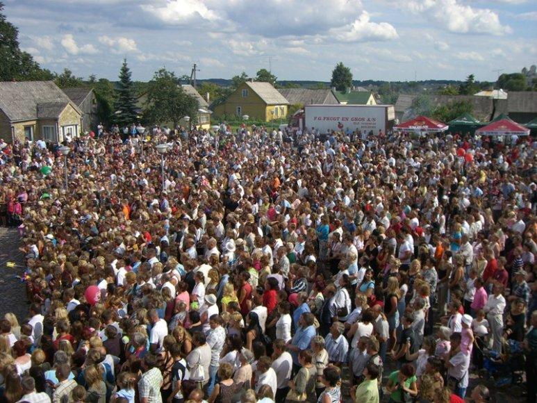 Kražių festivalio akimirka