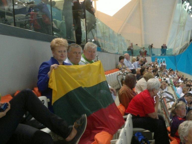 Dalia Grybauskaitė stebėjo Giedriaus Titenio pasirodymą