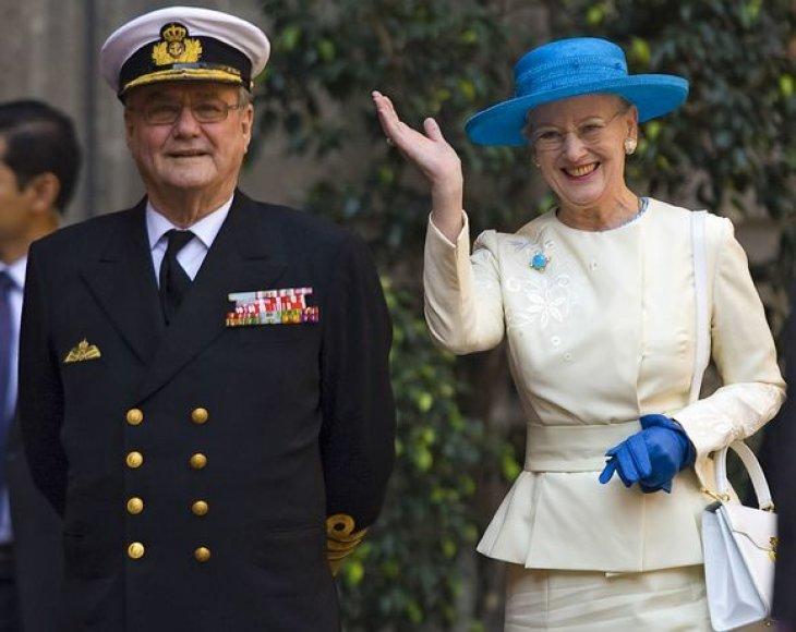 Danijos karalienė  Margrethe II  ir jos vyras Consortas Henrikas