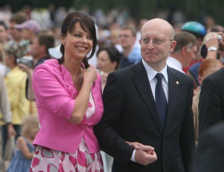 Inga Valinskienė su Arūnu Valinsku