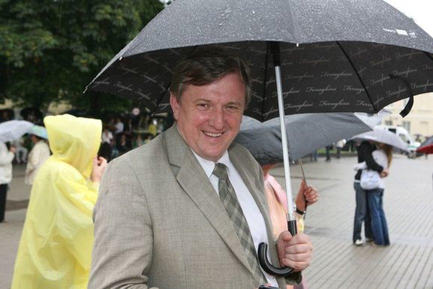 Šventinis prezidentės inauguracijos koncertas – merkiant lietui.
