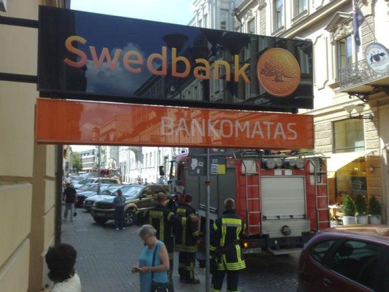 """Įvykio vieta prie """"Swedbanko"""""""