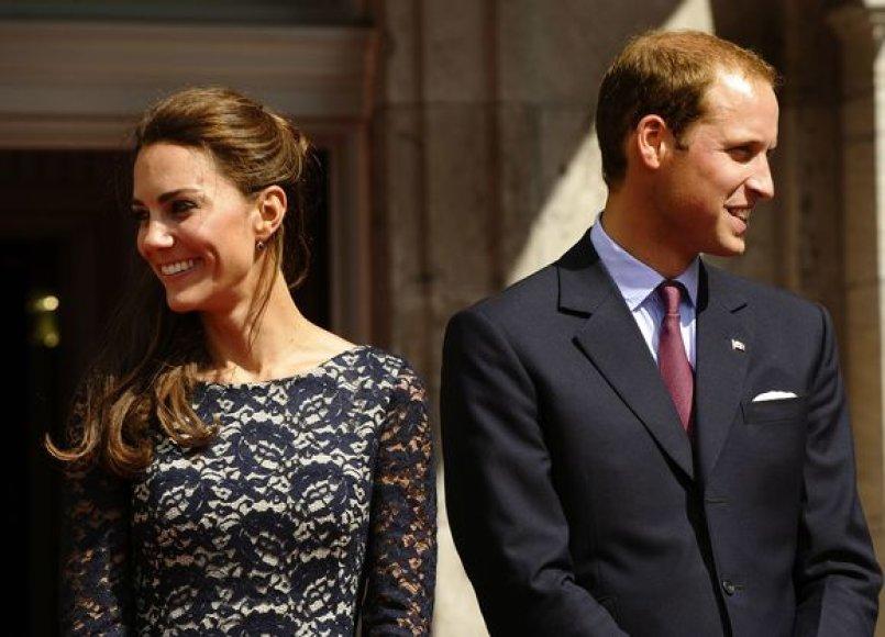 Kembridžo hercogienė Catherine ir princas Williamas