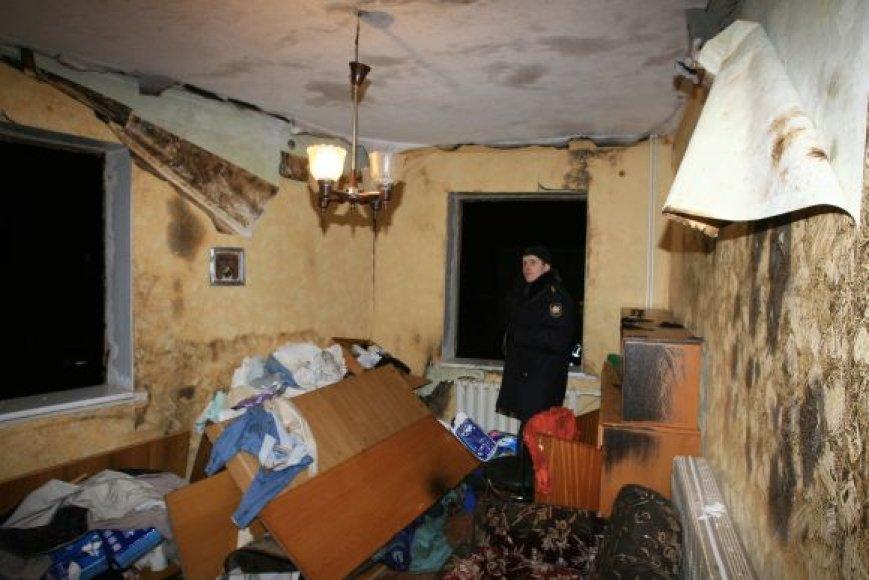 Pagėgių savivaldybėje sprogus dujoms apgadintas namas