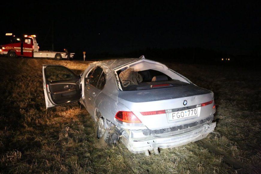 BMW avarija Šilutės rajone