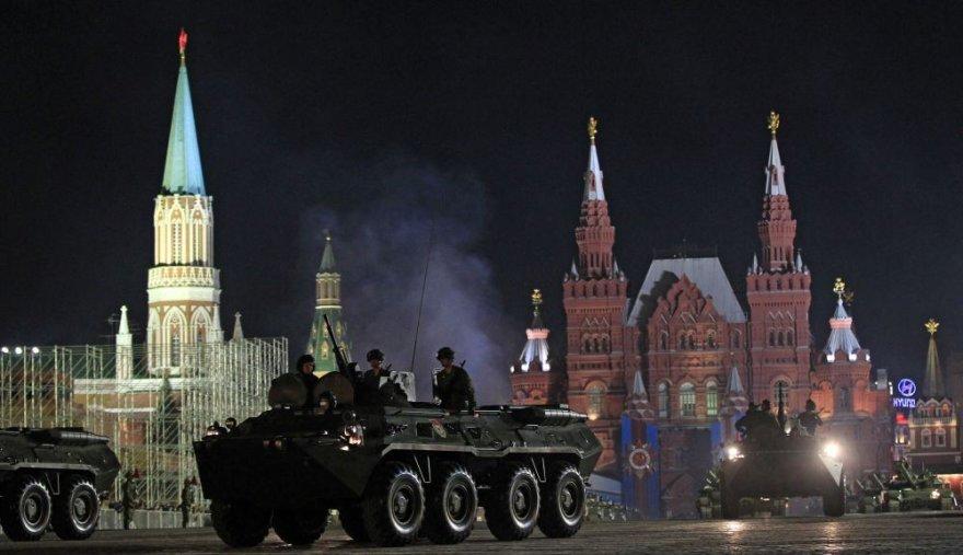 Karinio parado repeticija Maskvoje