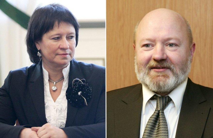 Eugenijus Gentvilas ir Virginija Baltraitienė – brolis ir sesuo