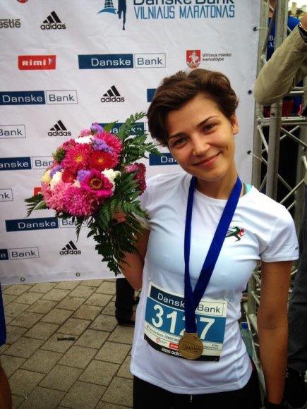 Ieva Lesauskaitė Vilniaus maratone