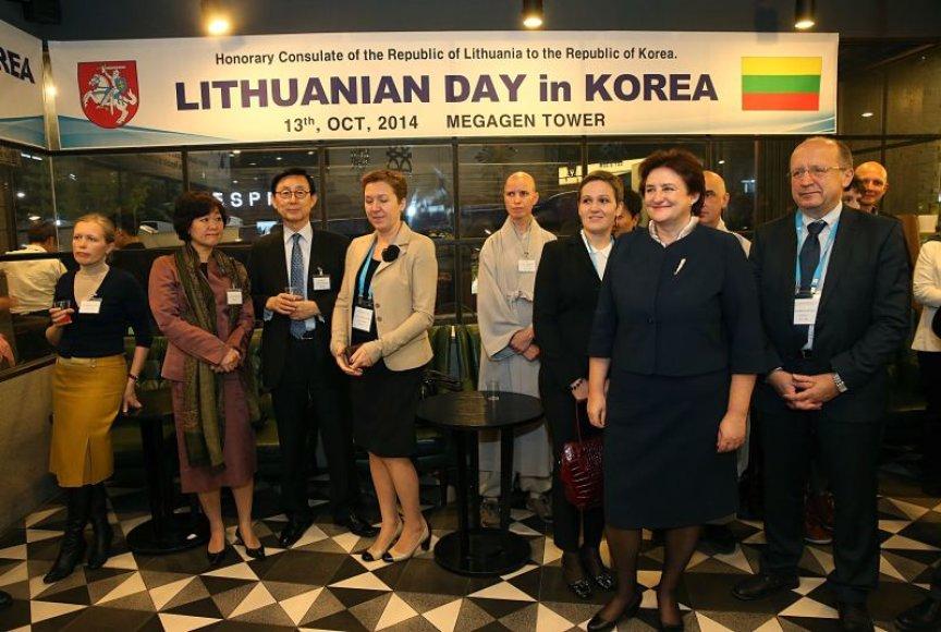 Loreta Graužinienė ir Andrius Kubilius su darbo vizitu lankėsi Pietų Korėjoje