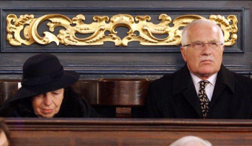 Čekijos prezidentas Vaclavas Klausas su žmona Livia