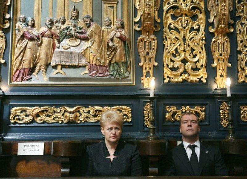Dalia Grybauskaitė ir Dmitrijus Medvedevas