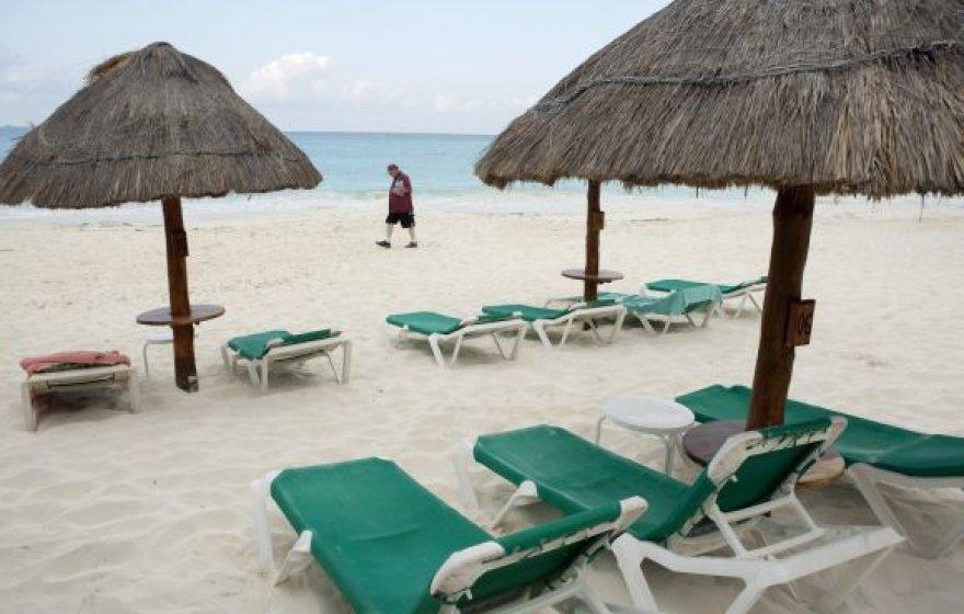 Kankuno (Meksika) paplūdimys
