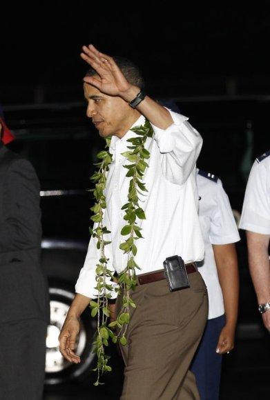 Barackas Obama atvyko atostogų į Havajus