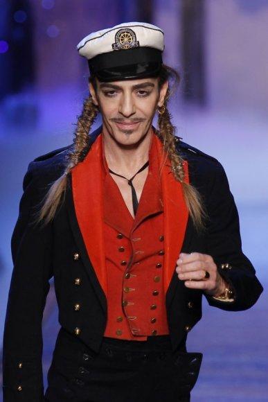 Britų dizaineris Johnas Galliano 2011 m. vasario 25 d.