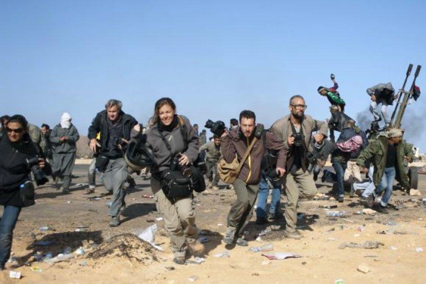 JAV žurnalistai Libijoje