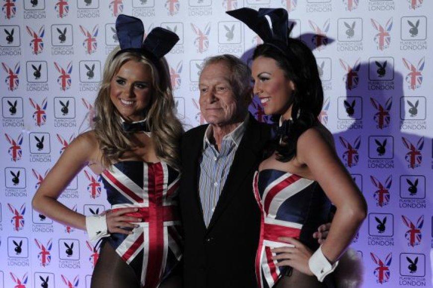 "Hugh Hefnerio ""Playboy"" klubo atidarymas Londone"