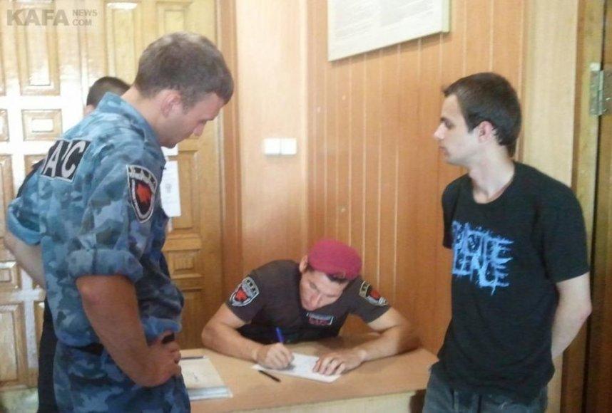 Sulaikytas baltarusis milicijos skyriuje