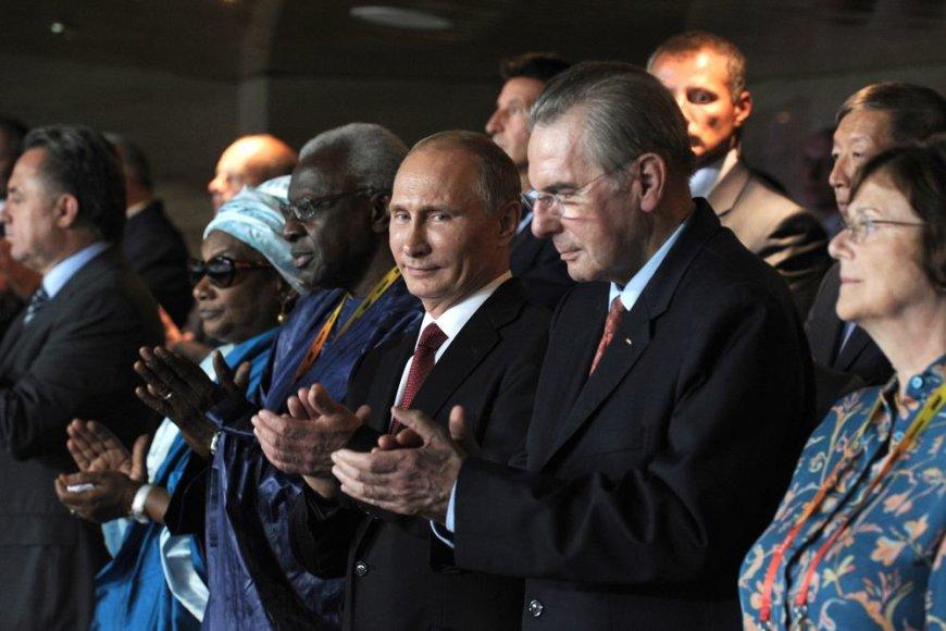 Vladimiras Putinas ir Jacques'as Rogge