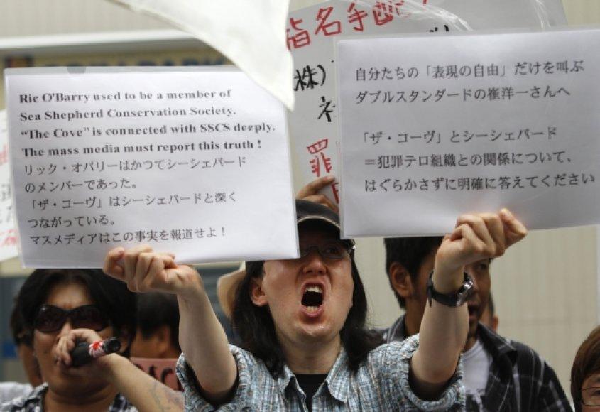 Protestuotojai Tokijuje