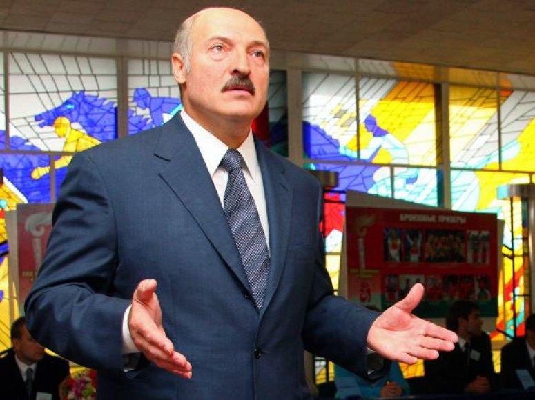 Nustebęs Aleksandras Lukašenka