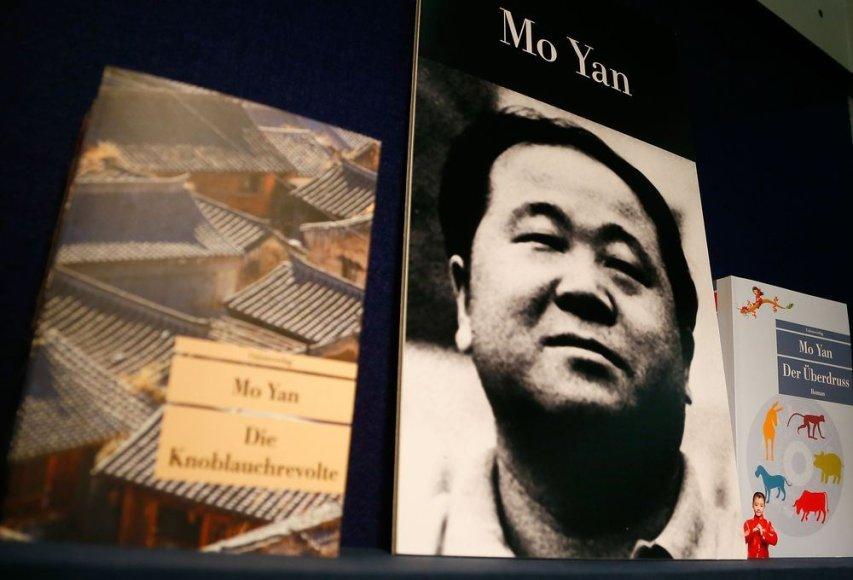 Mo Yano knygų stendas Frankfurto knygų mugėje