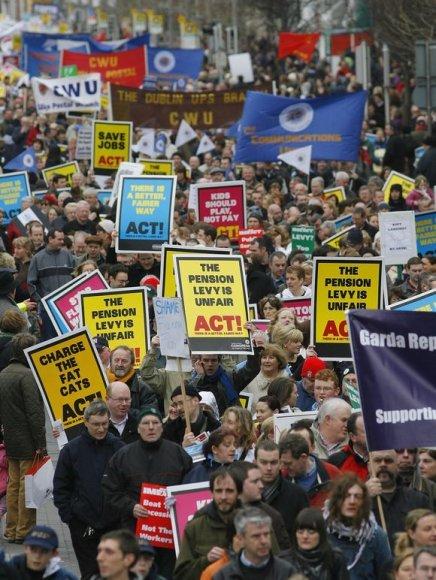 Protestai Airijoje