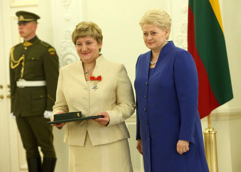 Angonita Rupšytė ir Dalia Grybauskaitė