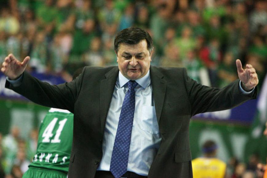 """Kauno """"Žalgirio"""" ir Tel Avivo """"Maccabi"""" rungtynių akimirka"""