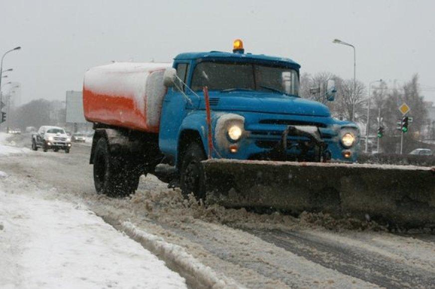 Sniego valymas Klaipėdoje