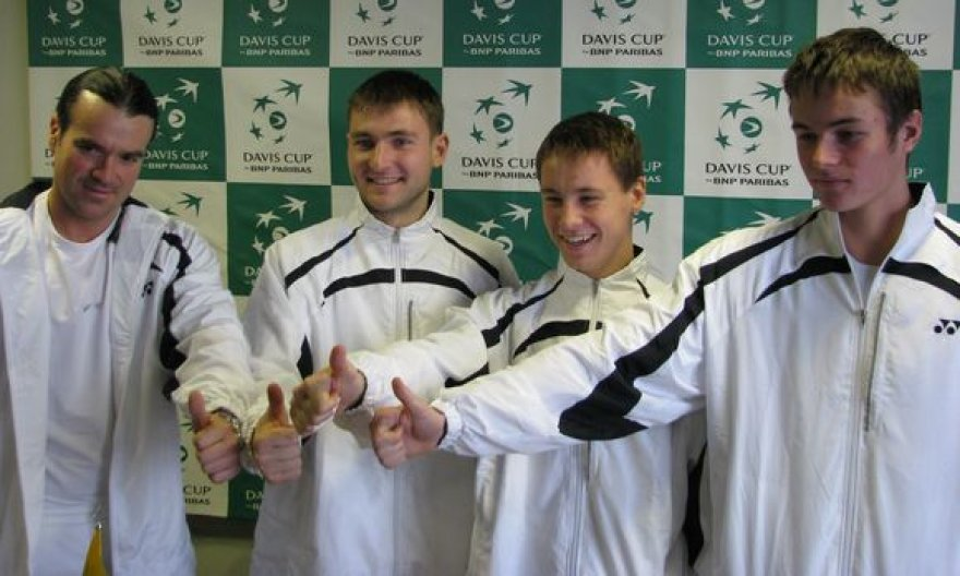 Lietuvos teniso rinktinė buvo nusiteikusi optimistiškai.